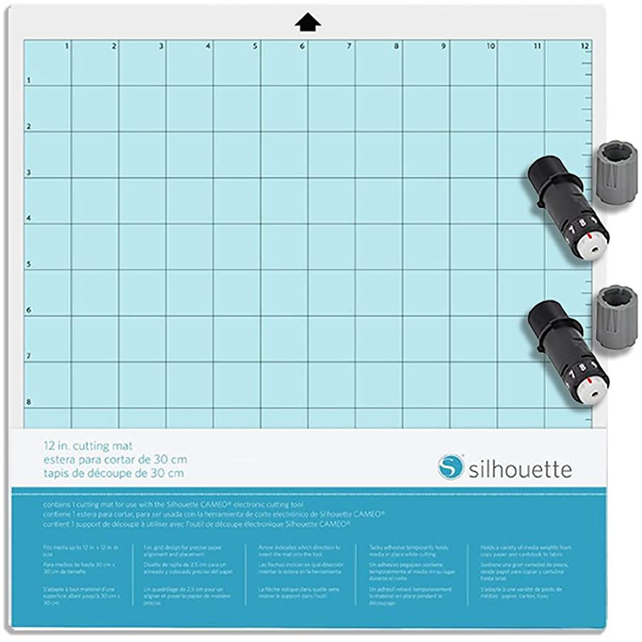 Silhouette America Bundle Pack Silhouette Cameo Cutting Mat and 2 Blades