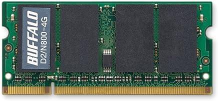 BUFFALO PC2-6400 800MHz対応 200Pin用 DDR2 S.ODIMM 4GB D2/N800-4G
