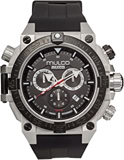 Mulco Buzo Dive Quartz Swiss Chronograph Movement Men's Watch   Premium Analog Display with Steel Accent   Steel Watch Band   Water Resistant Stainless Steel Watch