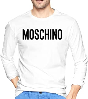 Moschino Long Sleeve Crew Neck T-Shirt Shirts Casual Tops Tee