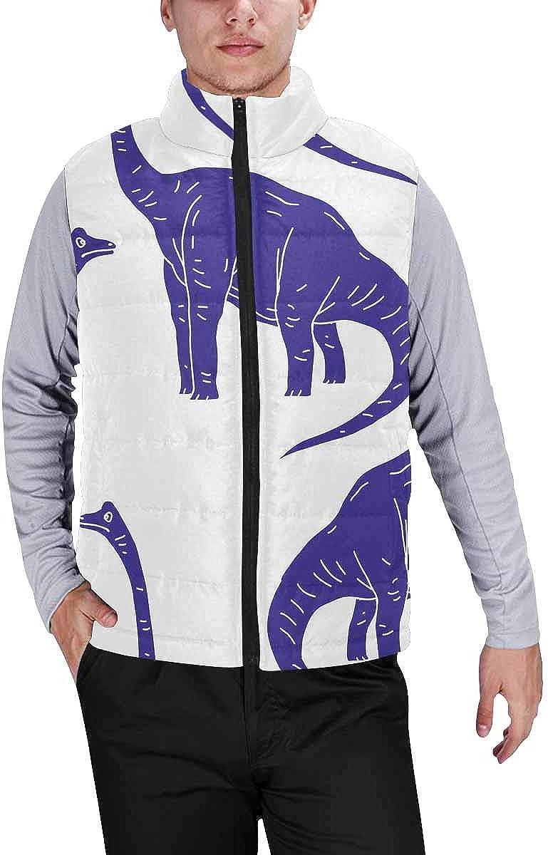 InterestPrint Warm Outdoor Sleeveless Stand Collar Vest for Men Sheep, Rainbow, Star and Cloud
