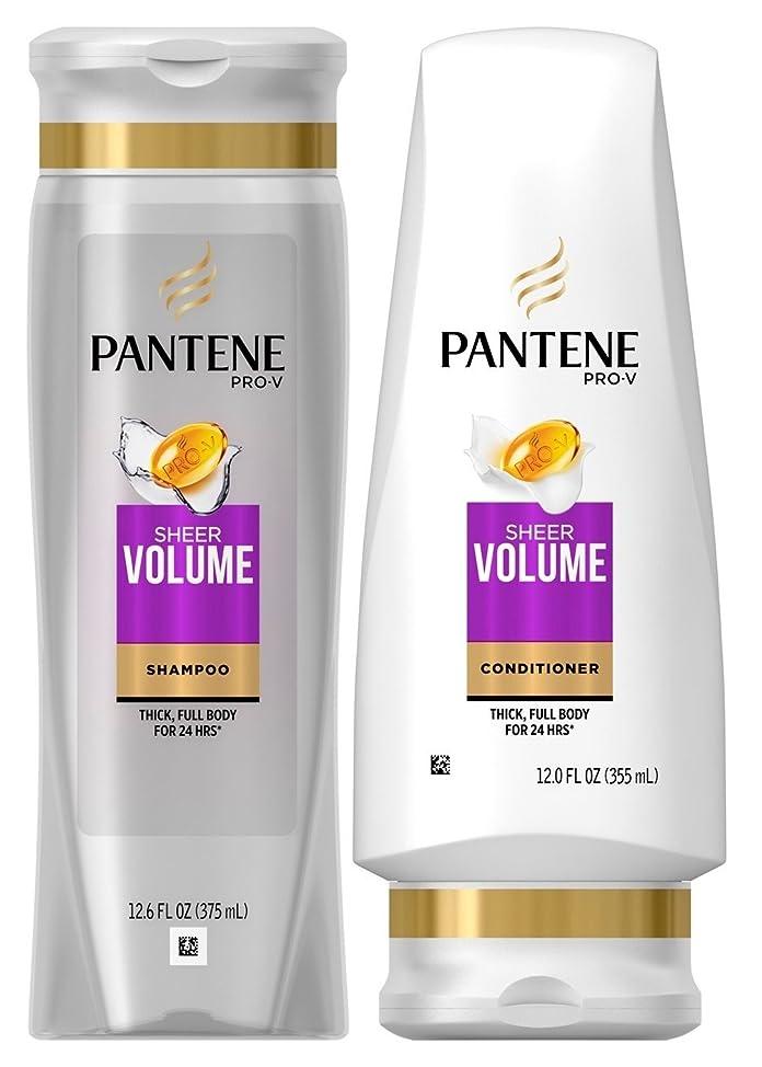 Pantene Pro-V Sheer Volume, DUO Set Shampoo + Conditioner, 12.6 Ounce, 1 each