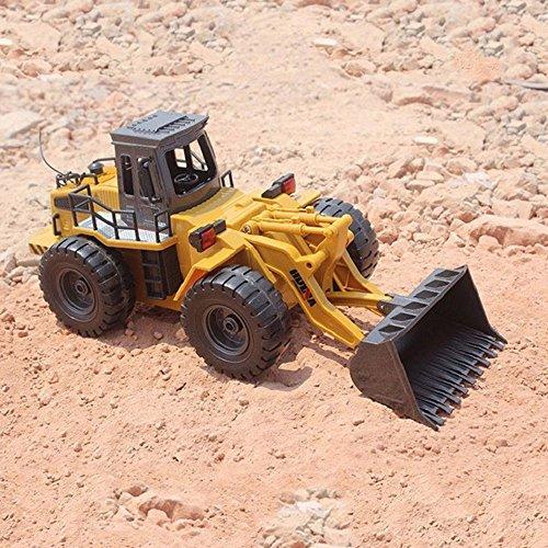 RC Auto kaufen Baufahrzeug Bild 4: 2.4GHz RC ferngesteuerter Bagger Baustellen-Fahrzeug, Modell mit viele Metallbauteile, schwenkbarer Schaufel Radlader, Ready-To-Drive, Komplett-Set RTR*