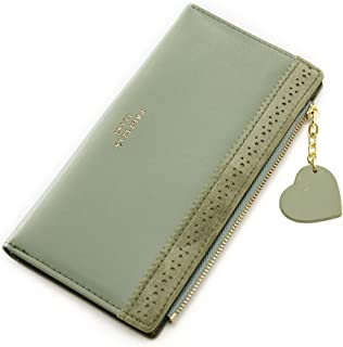 Cyanb Hollow out Bifold Wristlet Wallet Card Holder Purse for Women Girl