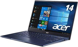 Acer(エイサー) 14.0型ノートパソコン Swift 5(i5/ 8GB/ 512GB/ Officeなし)- チャコールブルー薄型・軽量/タッチディスプレイ/指紋認証/Webカメラ/マイク SF514-54T-F58Y/B