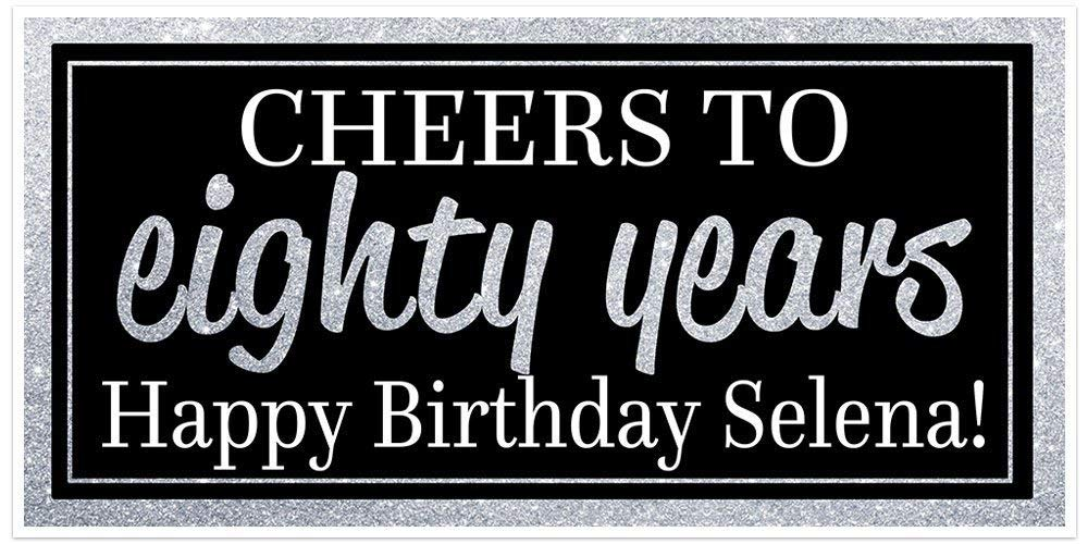 Cheap mail order Department store specialty store Cheers to 80 Banner Years Birthday