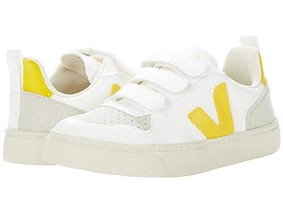 VEJA Kids V-10 Velcro (Little Kid/Big Kid) (White/Tonic) Kids Shoes