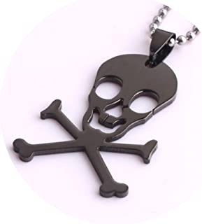 ANAZOZ Stainless Steel Cross Whistle Biker Charm Silver Pendant Necklaces for Men