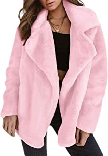 Women Sexy Mohair Faux Fur Comfy Solid Warm Fall Winter Jacket Coat Outerwear