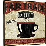 GREATBIGCANVAS Coffee Roasters I Canvas Wall Art Print, 48'x48'x1.5'
