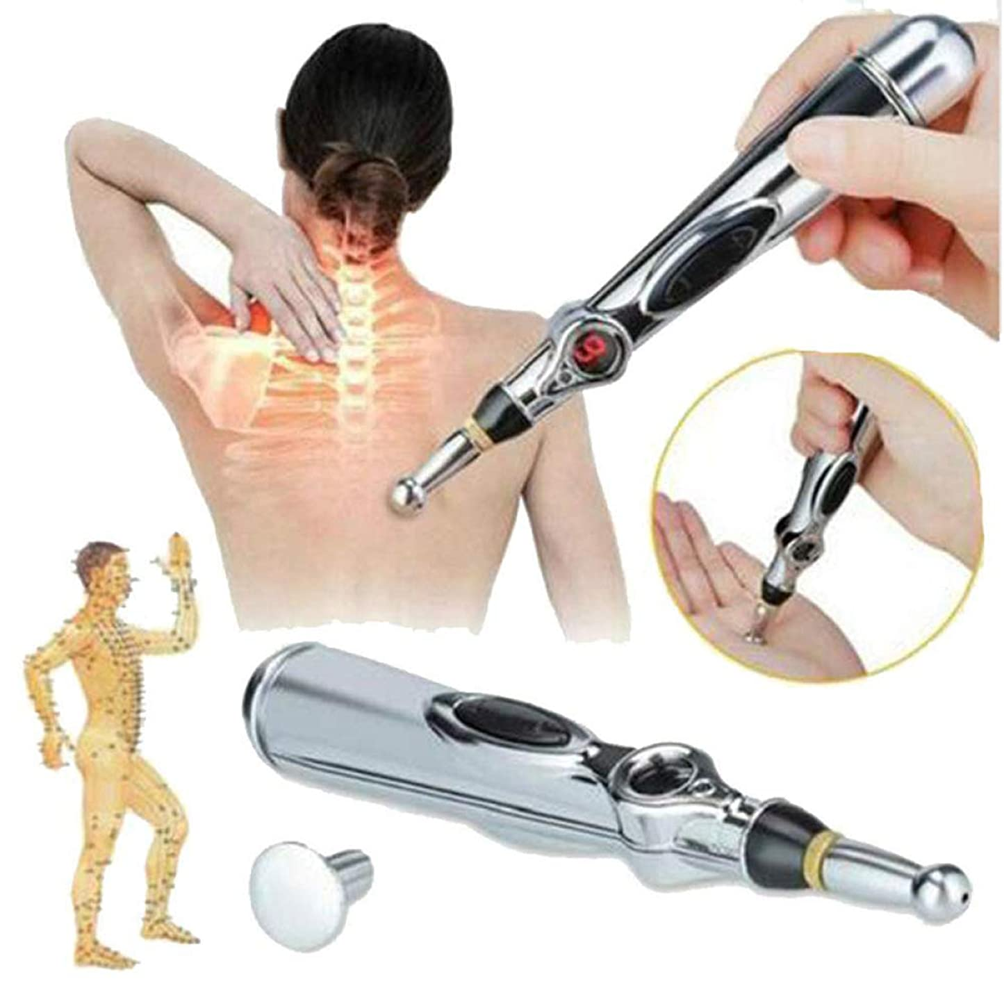 ツーリスト対応する宿題電子鍼ペン、電子経絡レーザー治療、マッサージペン、経絡エネルギーペン、痛み緩和ツール