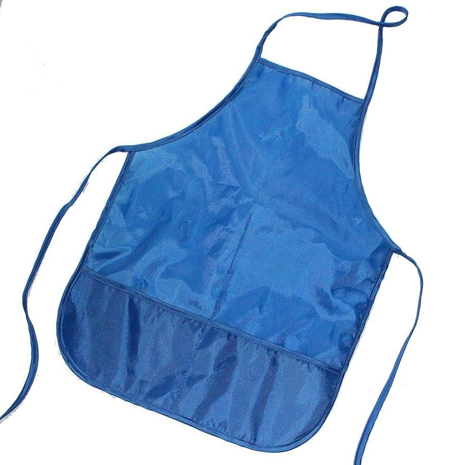 放射するシャッフル米国子供防水漫画食べるビブエプロンペイント上着4色オプション (濃紺)