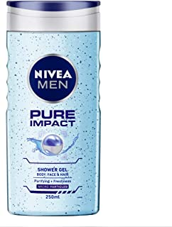 NIVEA MEN Shower Gel, Pure Impact Body Wash, Men, 250ml