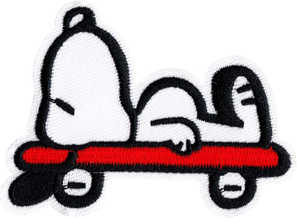 Selling rankings Snoopy - All items in the store Lying on Embroidered Iron Skateboard Patch