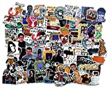 ZJJHX Nuevos Amigos, películas conocidas, Dibujos Animados, Pegatinas de Graffiti, Estuche de la Nevera, Pegatinas de teléfono para automóvil a Prueba de Agua, 100 Hojas