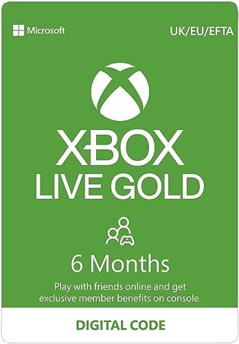 Xbox Live Gold – 6 - Month Membership [Digital Download Code]