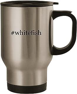 #whitefish - Stainless Steel 14oz Road Ready Travel Mug, Silver