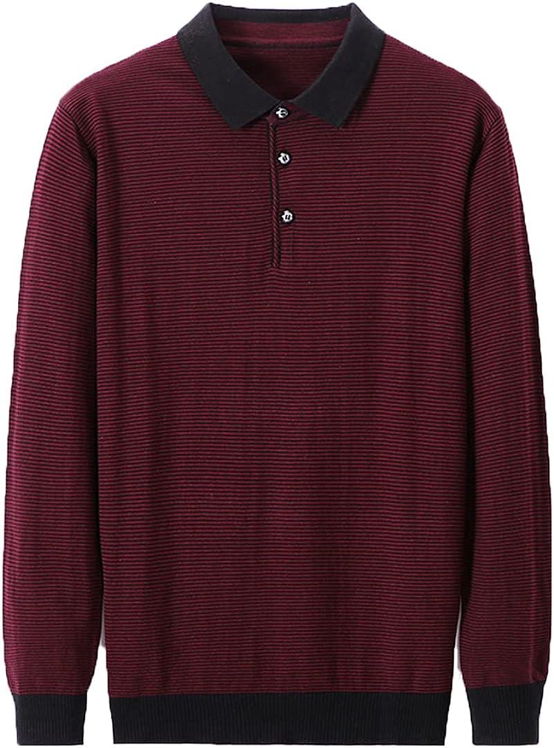 Sinubiser Men Autumn Winter Streetwear Turn-Down Collar Sweater Pullover Clothing