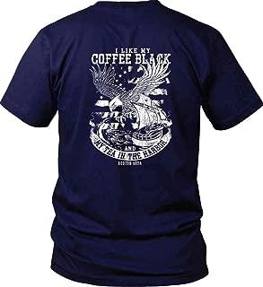 I Like My Coffee Black and My Tea in The Harbor. Gildan T-Shirt
