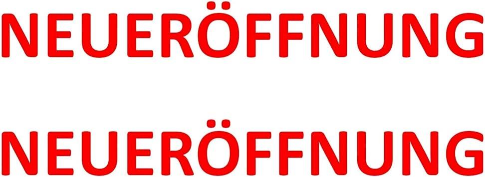Aufkleber Neueröffnung Rot 2 Stück Verschiedene Größen Neu Banner Plakat Schild Größe 100 Cm Breit Bürobedarf Schreibwaren