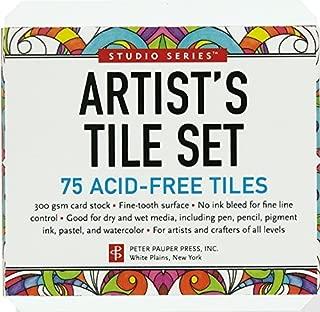 Studio Series Artist's Tiles: White (75 pack) by Peter Pauper Press (2014) Hardcover