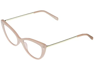 QUAY AUSTRALIA Lustworthy (Light Pink/Clear Blue Light) Fashion Sunglasses