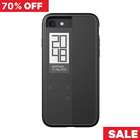 【Oaxis 】 Inkcase IVY for iPhone SE 7/8 ケース アイフォンケース スマホケース スマホカバー 防水防塵 耐衝撃 時計 日時 リマインダー 壁紙 電子書籍 電子ブック リーダー E-reader ブラック