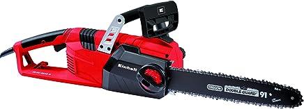 Einhell GE-EC 2240 S -Motosierra eléctrica, espada y cadena Oregon, velocidad de corte 14.5 m/s, 8000 rpm, 2200 W, 220 - 240 V, color negro y rojo (ref. 4501770)
