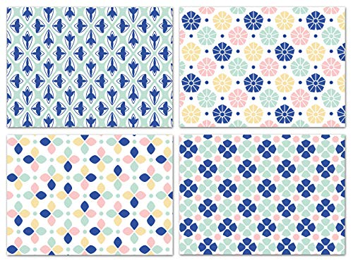 Blank Cards with Envelopes - 48 Mosaic Blank Note Cards with Envelopes-4 Different Assorted Cards for All Occasions! Blank Notecards and Envelopes Stationary Set for Personalized Greeting Cards-4x5.5'
