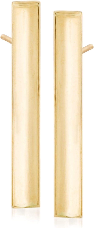 Ross-Simons 14kt Yellow Gold Linear Bar Earrings