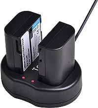Tectra 2-Pack Pentax D-Li90 Replacement Battery and Dual USB Charger for Pentax 645D, 645Z, K-01, K-3, K-5, K-5 II, K-5 II...