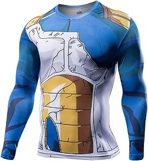 Dragon Ball Z Compression T Shirt Goku Super Saiyan Skin Tight Muscle Gym Battle Armor 3D Sport Shirt