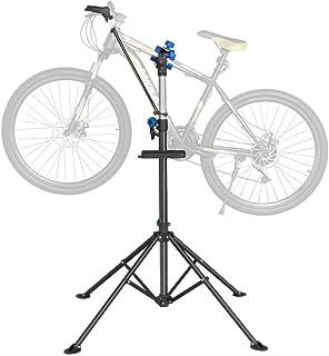 ایستگاه تعمیر و نگهداری دوچرخه Yaheetech Pro مکانیک تعمیر دوچرخه با پایه سینی ابزار ایستاده تعمیر دوچرخه