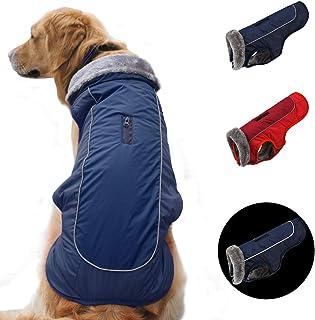 Abrigos para Perros c/álidos Chaquetas para Perros peque/ñas Medianas y Grandes Chaleco para Nieve a Prueba de Viento Ropa para Perros Traje con Orificio para arn/és Idepet Chaqueta para Perros