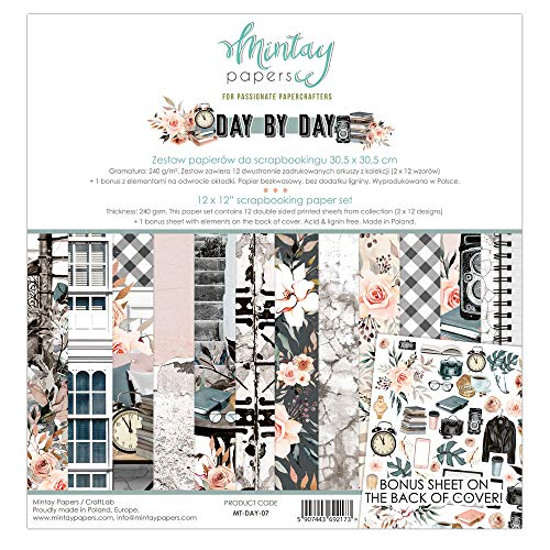"""MTY Paper Pad 12""""x12"""" - Day by Day"""