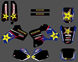 Lagrutta - VN10 NICECNC Star Team Graphic Background Decal And Sticker Kit For Yamaha YZ80 YZ 80 1993 1994 1995 1996 1997 1998 1999 2000 2001