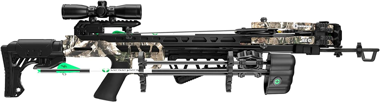 OFFer CenterPoint Heat 425 FPS Compound Max 51% OFF Draw Power Crossbow Packa with