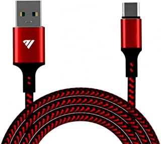 Eshopia USB C كابل شحن سريع 3A نايلون مضفر USB نوع C شاحن متوافق مع Huawei P20 Lite Mate 20 Pro P20 Galaxy S10 Plus S9 S8 ...