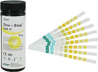 100 Tiras Reactivas para análisis de orina de 11 Parámetros: Leucocitos, nitritos, urobilinógenos, proteínas, pH, sangre, gravedad específica, cetonas, bilirrubina, glucosa y ácido ascórbico