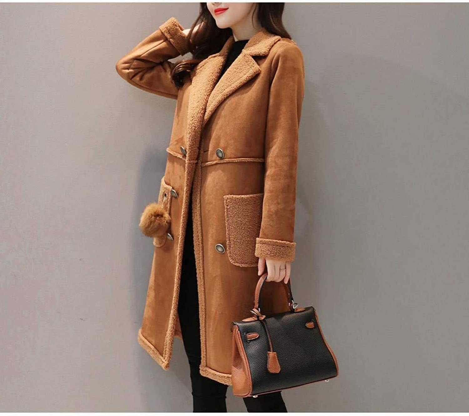 Coat Jacket, Woolen Coat, Winter Plus Velvet Thick Lamb Coat, Winter Autumn and Winter Slim Skinny Coat XQY