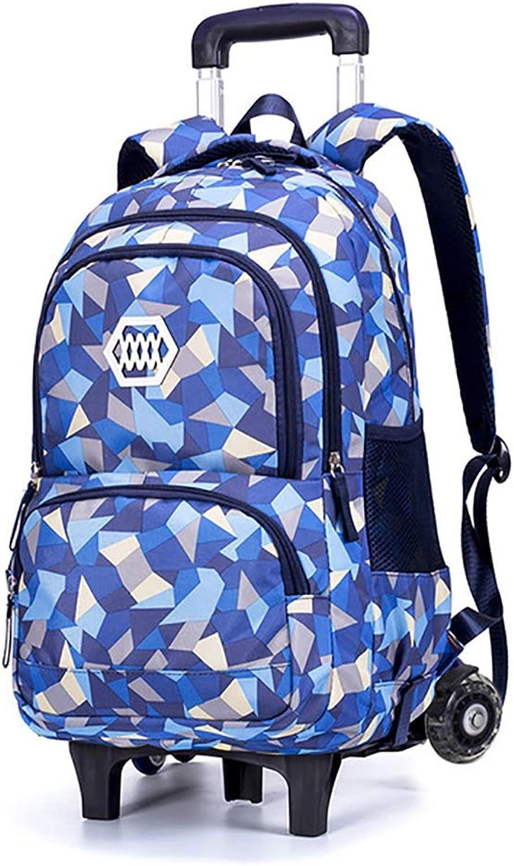 Schultertasche Schultasche mit Großer Kapazität Zweirad-Gepäcktasche Abnehmbare Zughülle 12,9  9,4  18,8 Zoll,Blau B07FXQYMP3 | Stabile Qualität