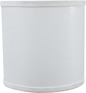 Aspen Creative 31058 Transitional Drum (Cylinder) Shaped Spider Construction Lamp Shade in White, 8