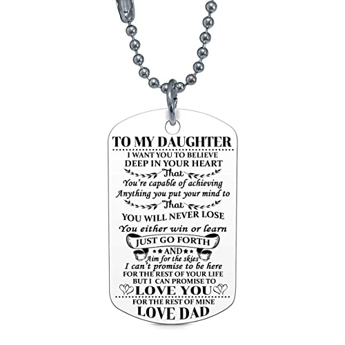 To My Daughter I Want You Believe Love Dad Dog Tag Military Air Force Navy