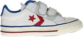 Converse 763713C White Enamel Red Bianco Scarpe Bambino