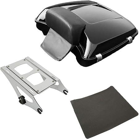 XMT-MOTOR Cuscino posteriore per moto adatto per Harley Touring Chopped//Razor Tour-Pack 2014-2020