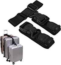 """Luggage Connector Straps,Add a Bag Suitcase Strap Belt,Luggage Clip Link,Multi Adjustable 1.5""""W Travel Attachment Accessories for Carry on bag stacker - 2 pack(Extended Size)"""