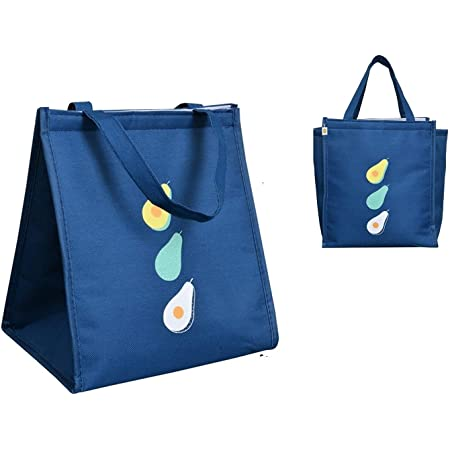 Yellow Weaves Insulated Polyester Storage Bag (Blue)