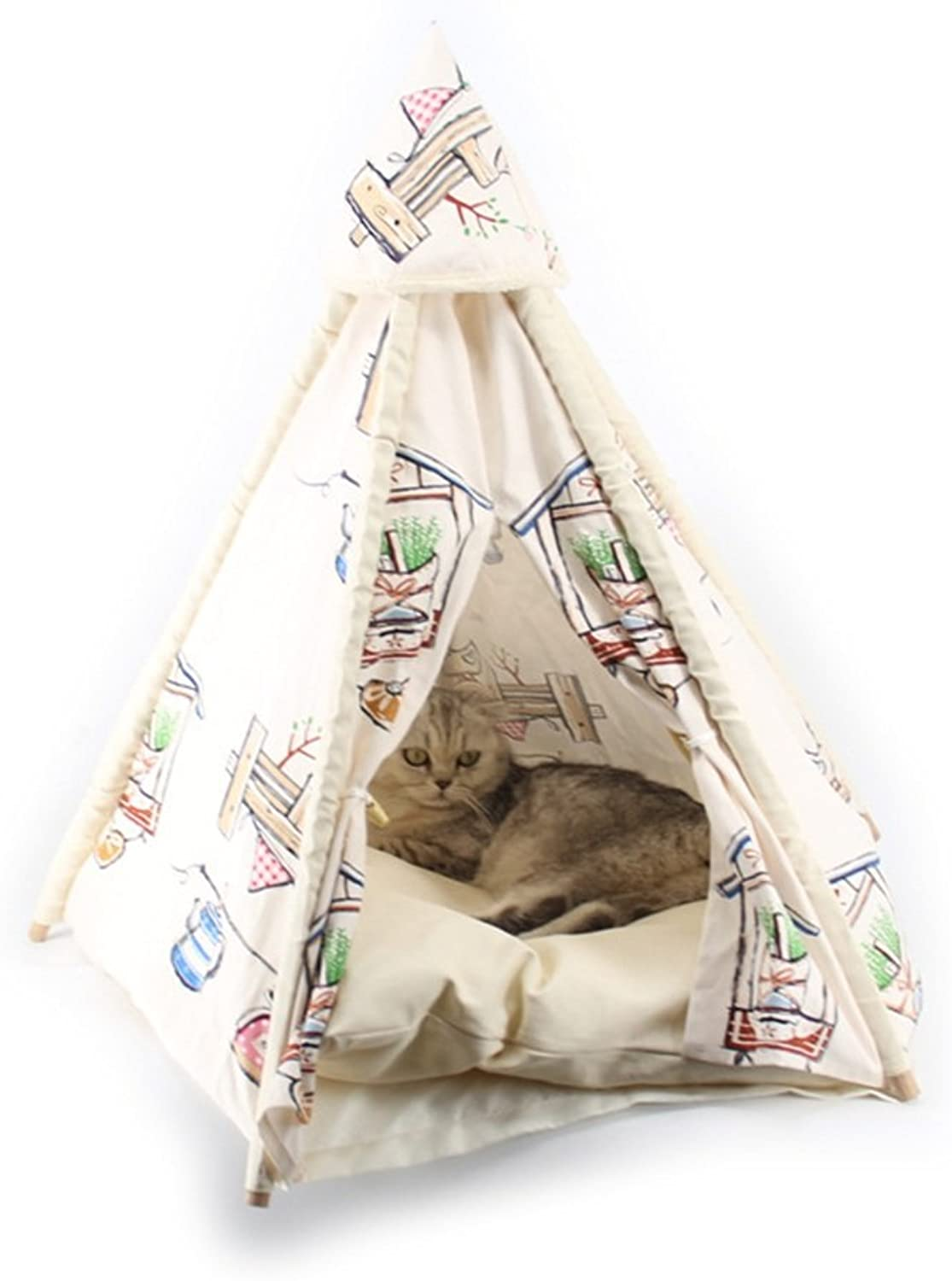 NYDZDM Four Seasons Universal Kennel Camping Folding Canvas Dog Tent Dog Bed (Size   S 72  45cm)