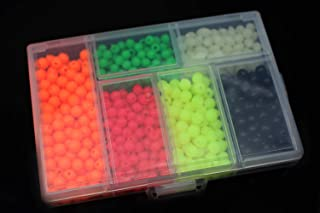 850pcs/box Plastic Fishing Beads Round&Oval Luminous Sea Floating Rigs Lure Bait Fly Tying Beads Materials Tackle