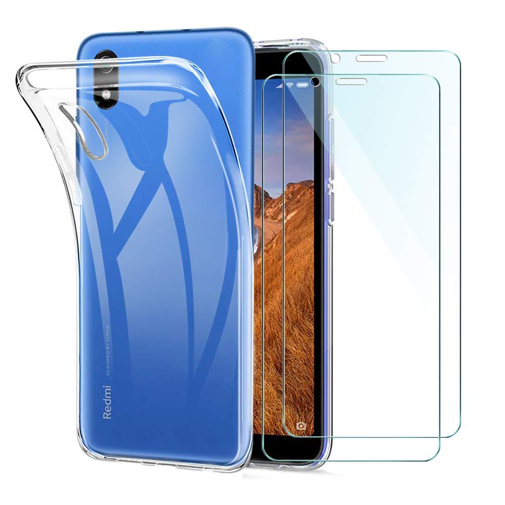 Xiaomi Redmi 7A Funda + [2 Pack] Cristal Protector de Pantalla ...
